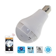 360-Degree Fisheye Panoramic Wifi Wireless Smart LED Bulb Light Camera