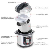 Geekchef 11-In-1 Multi-Functional Electric Pressure Cooker, Stainless Steel
