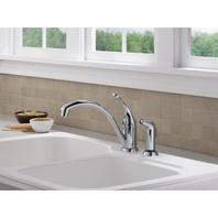 Collins Single-Handle Standard Kitchen Faucet with Side Sprayer in Chrome