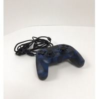 Snakebyte  Gamepad S Wired PS4 Controller With 3m Cable - Blue Camo