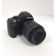 Nikon D5100 DSLR Camera W/ 18-55mm F/ 3.5-5.6 Auto Focus-S Nikkor Zoom Lens