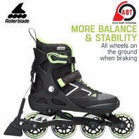 Rollerblade Women's 80 ABT Fitness Inline Skate, Black/Light Green, Size 6.5