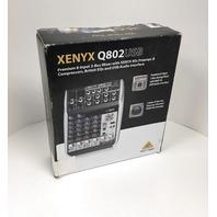 Behringer - Xenyx Q802USB 8-input 2-bus Analog Mixer