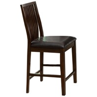 Denver Leatherette Dining Chair, Walnut, Set Of 2