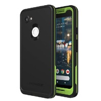 LifeProof FRE Series Waterproof Case for Google Pixel 2 XL - Black / Lime Green
