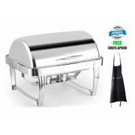 ChefMaid Deluxe High End Stainless Steel Chafer with Roll Top