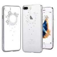 DEVIA for iPhone 7plus  Crystal Garland Plating Plastic Case Silvery