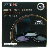 Zeikos Ze-Flk40.5- 40.5mm Glass Filter Kit (Uv-Cpl-Fld)