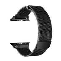 40/38mm Apple Watch Milanese Stainless Steel band with Magnetic Clasp, black