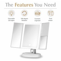 Fancii Led Lighted Vanity Makeup Mirror With 5x And 10x Magnifications - 34 Dimm