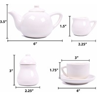Just My Style 92269h Paint Your Own Rainbow Tea Set By Horizon Group Usa