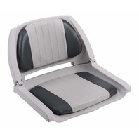 Wise 8WD139 Series Molded Fishing Boat Seat  Grey Shell, Grey/Charcoal Cushion