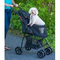 Pet Gear Pet Gear Happy Trails Lite No-Zip Pet Stroller, Jaguar