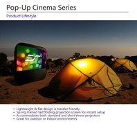 Elite Screens Pop-Up Cinema Series, 92-Inch 16:9, Portable Screen