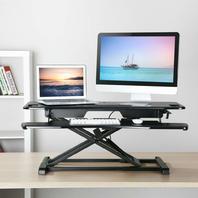 "Techorbits Rise-X Pro Standing Desk Workstation - 37"" Black"