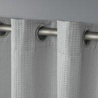 Eglinton Woven Blackout Window Curtain Panel Pair 52x96, Dove Grey, 2 Piece