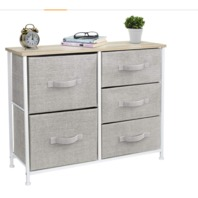 5 Drawers - Furniture Storage Tower Unit for Bedroom, Hallway, Closet, Office Organization - Steel