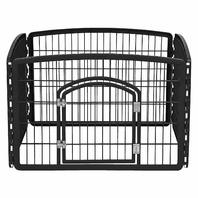 IRIS R-CI-604 24'' Exercise 4 Panel Pet Playpen with Door, Black