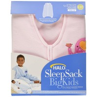 Halo Innovations Sleepsack Big Kids Micro-Fleece-Elephant, Pink, 2-3-Year
