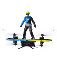 Air Hogs  2 In 1 Extreme Air Board,  RC Stunt Board To Paraglider