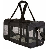 AmazonBasics Large Soft-Sided Mesh Pet Transport Carrier Bag - 20 x 10 x 11 In.