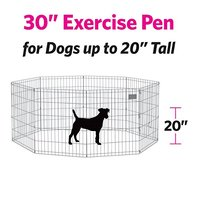 Portable Metal Exercise Pen Play Medium Dog Pet Indoor Outdoor Play 8 Pcs Panel