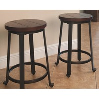 Challiman Barstool Brown Clay - (Set Of 2)