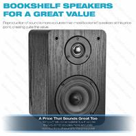 Mediabridge Bookshelf Speakers Pair - Black Enclosure