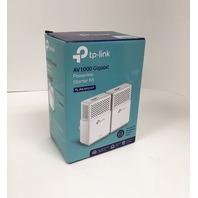 TP-link Kit Av1000 Gigabit Powerline Adapter Hd/3d/4k Video Twin Pack