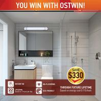 OSTWIN LED Vanity Linear Light LVF21