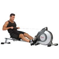 Magnetic Rowing Machine with Adjustable Resistance by Sunny SF-RW5515