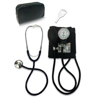 Primacare Classic Series Adult Blood Pressure Kit, Black With Stethoscope