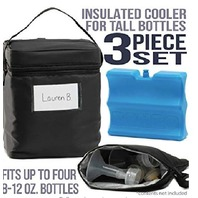 Zohzo Breastmilk Cooler Bag With Ice Pack - Insulated Breast Milk Cooler With...