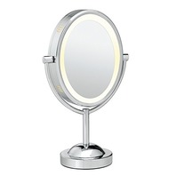 Conair Double-Sided Lighted Makeup Mirror - Polished Chrome Finish