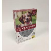 K9 Advantix II Flea Medicine Large Size Dogs (21 - 55 Lbs.) 6 Month Supply Pack