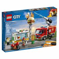 Lego City Burger Bar Fire Rescue 60214 Building Kit, 2019 (327 Pieces)