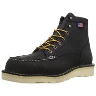 Danner Men's Bull Run Moc Toe Work Boot, Black, 11 D Us