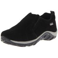 Merrell Jungle Moc Frosty Waterproof Slip-On Shoe ,Black, 3.5 M boys