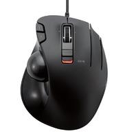 Elecom M-Xt3urbk Mouse Wired Trackball Grip 6 Button, Black