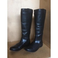 "SIZE 8.5 FRYE ""PAIGE"" WOMEN'S BLACK LEATHER TALL RIDING BOOTS"