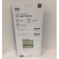 GE 10in. Ultra-Thin LED Light Strip Fixtures, 2-Pack