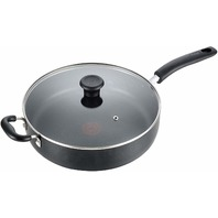 T-Fal Specialty Nonstick Jumbo Cooker Saute Pan With Glass Lid