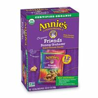 Annie's Organic Friends Bunny Honey Chocolate & Chocolate Chip Baked Graham Snacks Box, 12 Count (Pack Of 4)