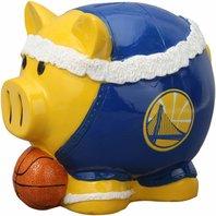 Golden State Warriors Resin Large Headband Piggy Bank