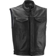 Highway 21 Magnum Men's Leather Motorcycle Vest W/Concealed Carry Black Size XL
