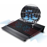 DEEPCOOL N8 Black Laptop Cooler, 2.5mm Pure Aluminum Panel with Dual 140mm Fans