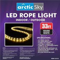 Arctic Sky 33' Led Rope Light-Bright White.