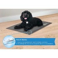 American Kennel Club Akc Reversible Xxl Stripe Pet Cooling Mat, Blue