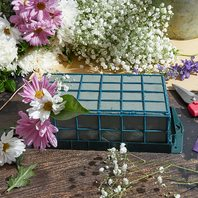 Bright Creations 2-Pack Floral Wet Foam Cage For Flowers, 9 X 4.5 X 3 Inches
