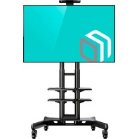 Onkron Mobile TV Stand Cart With Wheels & 2 AV Shelves For 32 - 65 Inch Screens